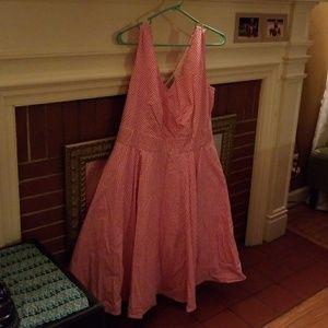 eShakti pink swing dress stretchy pockets 1X 18W